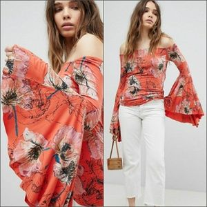 NWT Free People Birds Of Paradise Top
